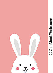 Cute White Bunny Wallpaper In Pink Background