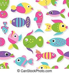 cute, peixe, cobrança, padrão