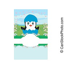 Cute Penguin Baby Shower card