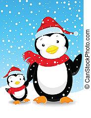cute penguin cartoon illutration