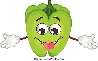 cute pepper character. cartoon vector illustration.