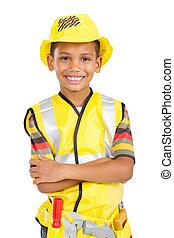 cute, pequeno, construção, construtor