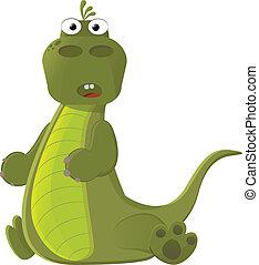 cute, pequeno, dinossauro
