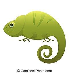 cute, personagem, caricatura, camaleão