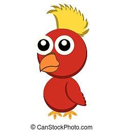 cute, personagem, pássaro, caricatura