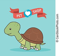 Cute pet cartoon graphic design, vector illustration eps10