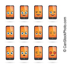 cute phone  avatar expression set
