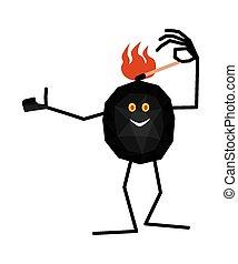 Cute piece of coal will ignite itse