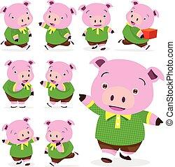 cute pig boy collection set