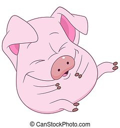 Cute pig clipart search illustration drawings and vector eps cute pig voltagebd Image collections