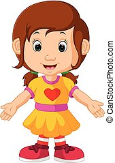 cute, pige, cartoon