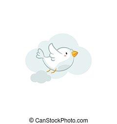 Pigeon - Cute Pigeon vector design