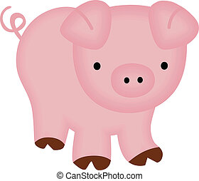 Cute Piggy - Scalable vectorial image representing a cute...