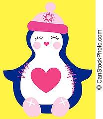 cute, pingvin