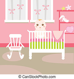 cute pink baby room