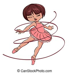 Cute Pink ballerina girl