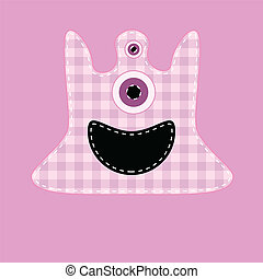 Cute pink kilted monster