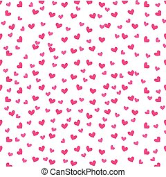 cute pink love heart decoration seamless pattern