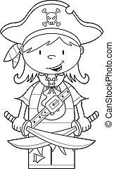 Cute Pirate Girl