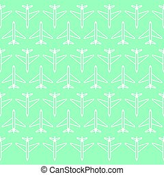 Cute plane background pattern. with design backdrop. Vector Illustration. on blue background