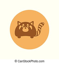 Cute Polecat Circular Icon Illustration