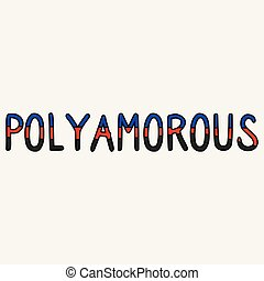 Cute poly amorous typography cartoon vector illustration ...