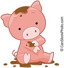 cute, porca