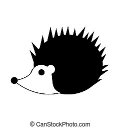 cute porcupine cartoon icon
