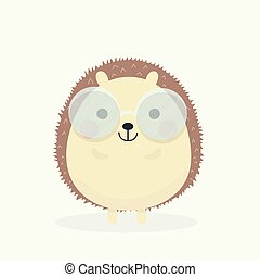 Cute porcupine cartoon vector illustration.