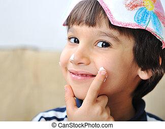 Cute positive kid