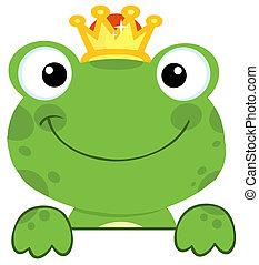 cute, príncipe, rã
