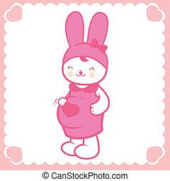 Cute pregnant bunny