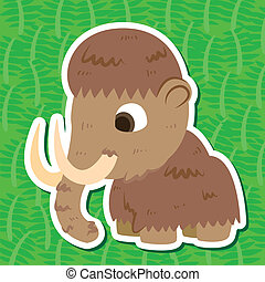 cute prehistoric animals sticker - a cute prehistoric animal...