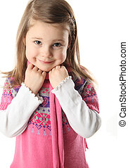 Cute preschool girl with scarf