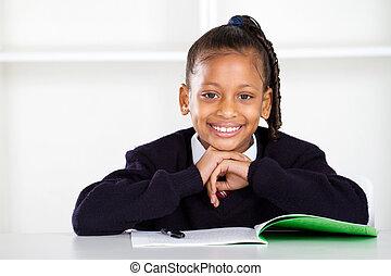 cute primary schoolgirl