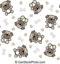 cute pug pattern