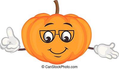 cute pumpkin character. cartoon vector illustration