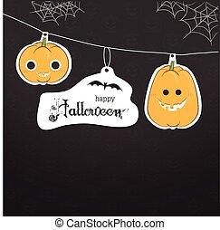 cute pumpkin halloween card