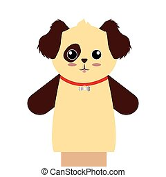 Cute puppet animal