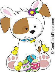 Cute Puppy Easter