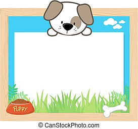 cute puppy frame