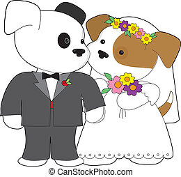 Cute Puppy Marriage