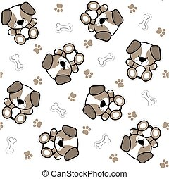 cute puppy pattern