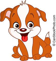 Smiley cute puppy