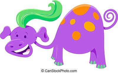 Cartoon Illustration of Cute Fantasy or Fairy Tale Comic Character