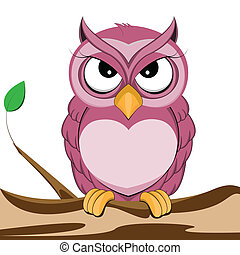 cute purple owl