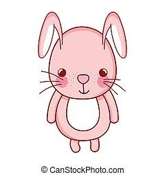 cute rabbit animal cartoon isolated icon design