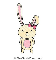 cute rabbit easter celebration