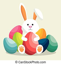 cute rabbit happy easter