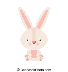 cute rabbit isolated icon